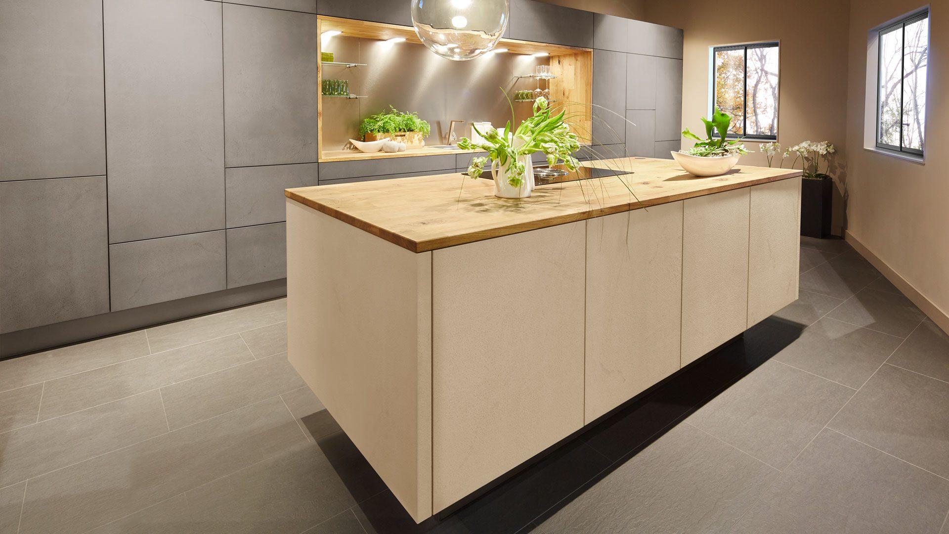 Meble kuchenne Sachsen – Kuchen – Tessa granitgrau