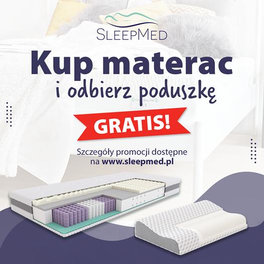 Kup materac i odbierz poduszkę gratis!