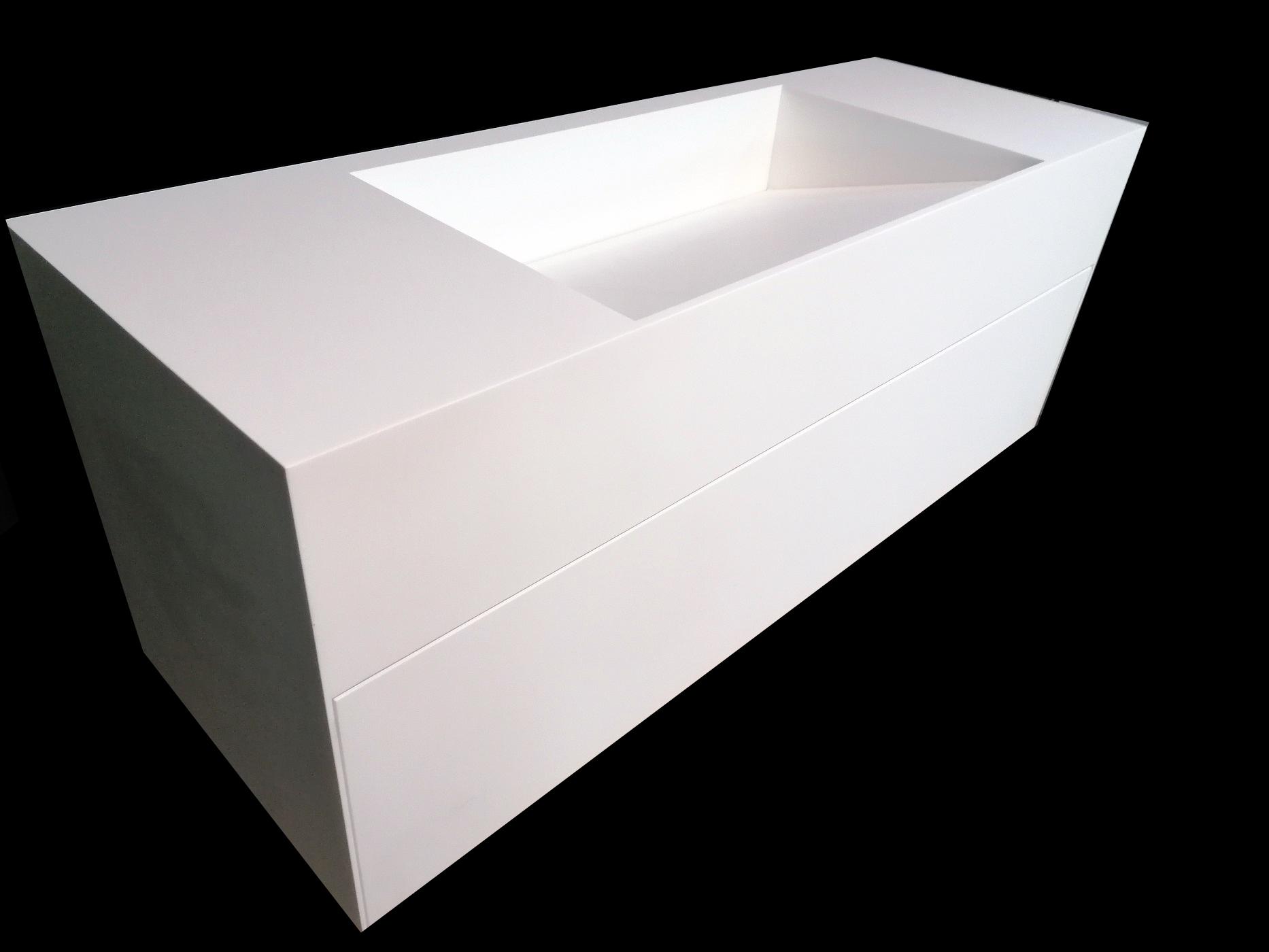 Szafka kompozytowa 120cm z umywalką z odpływem liniowym