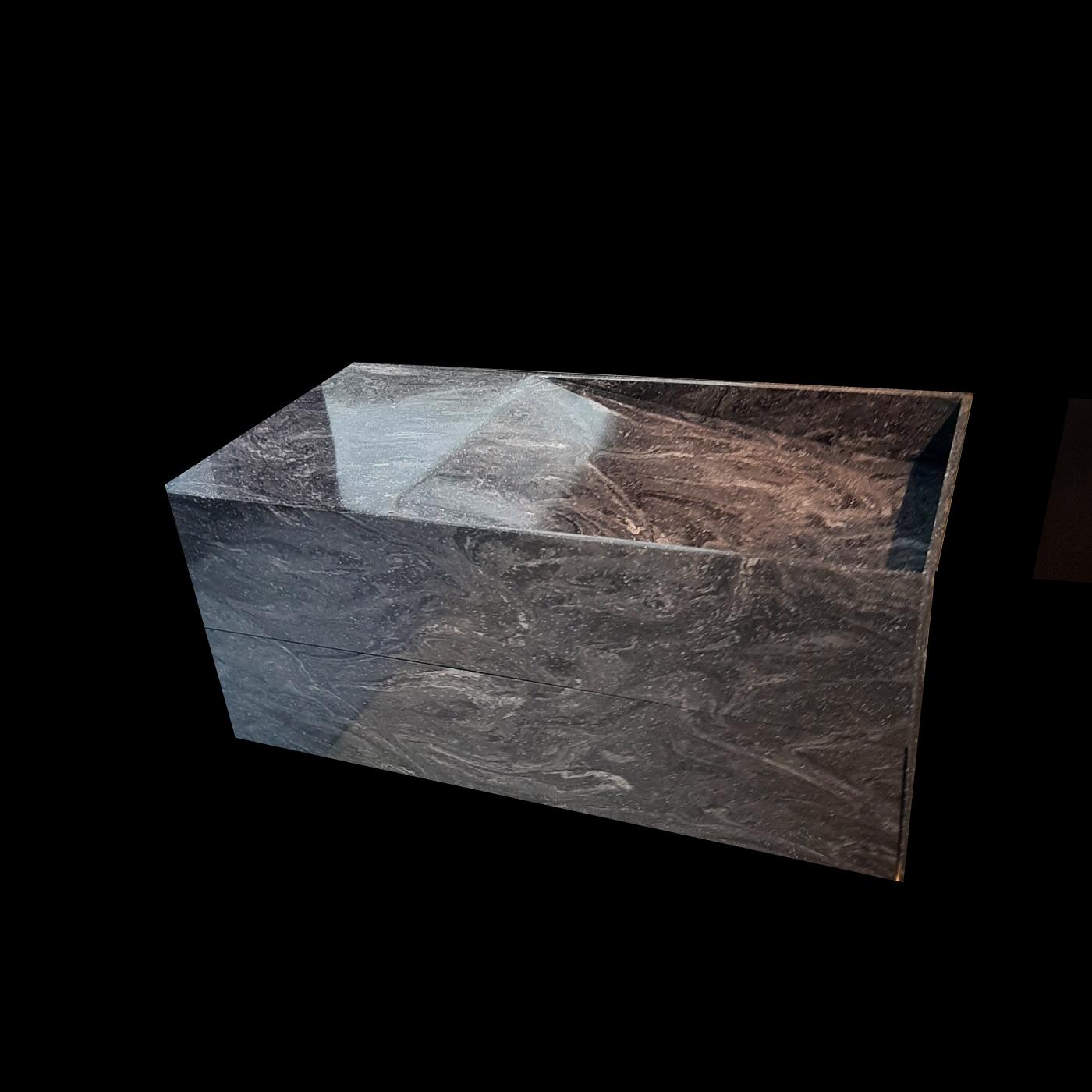 Szafka kompozytowa Corian Cosmos Prima z umywalką z bocznym odpływem liniowym